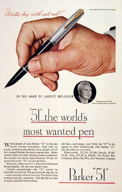 """""""Parker 51"""" – A caneta"""