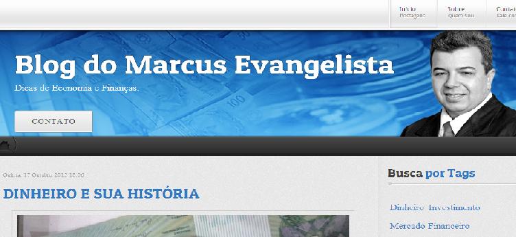Blog do meu irmão Marcus Evangelista estreia hoje!