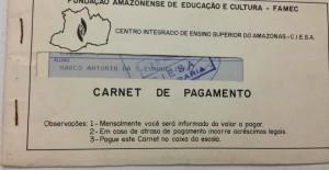 Logo na primeira semana de aula, a primeira tarefa do representante de sala era distribuir os carnês, que vinham da tesouraria.