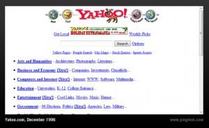 Era assim a tela da internet no início