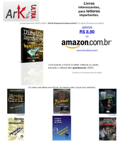 Meus e-Books na Amazon